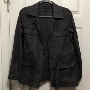 Lucky Brand Utility Jacket balloon sleeves XS